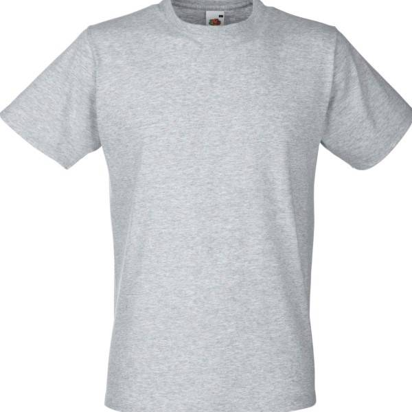Fruit of the Loom Fitted Valueweight T - Greymarl - XX-Large