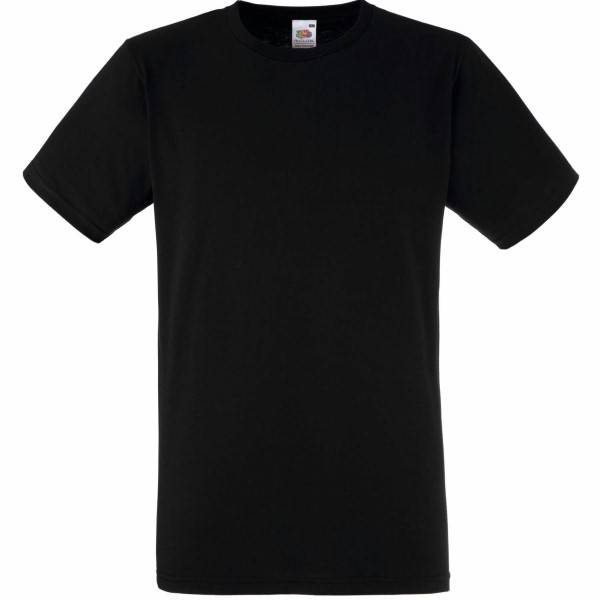 Fruit of the Loom Fitted Valueweight T - Black