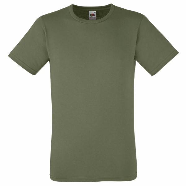 Fruit of the Loom Fitted Valueweight T - Olive - X-Large