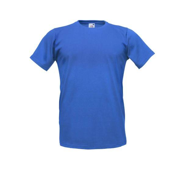 Fruit of the Loom Fitted Valueweight T - Royalblue - X-Large