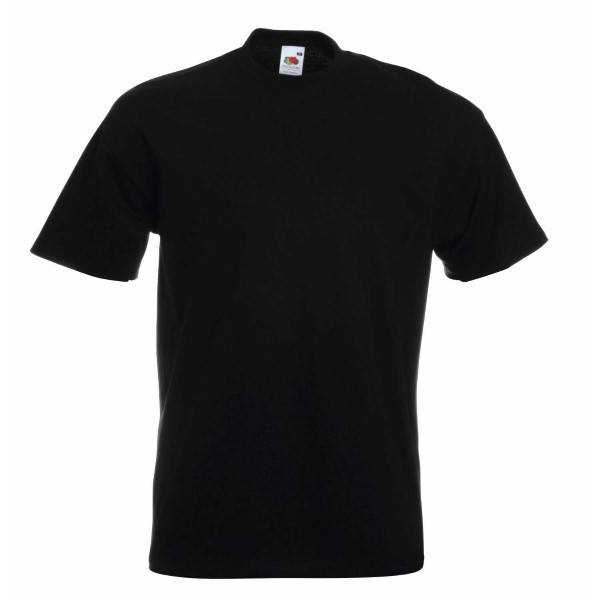 Fruit of the Loom Super Premium T - Black - XX-Large