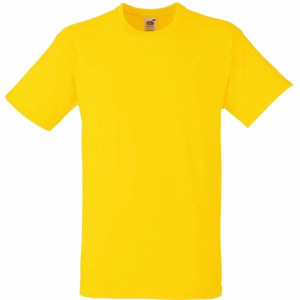 Fruit of the Loom Heavy Cotton T - Yellow - Small