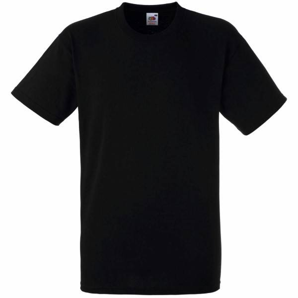 Fruit of the Loom Heavy Cotton T - Black - Medium