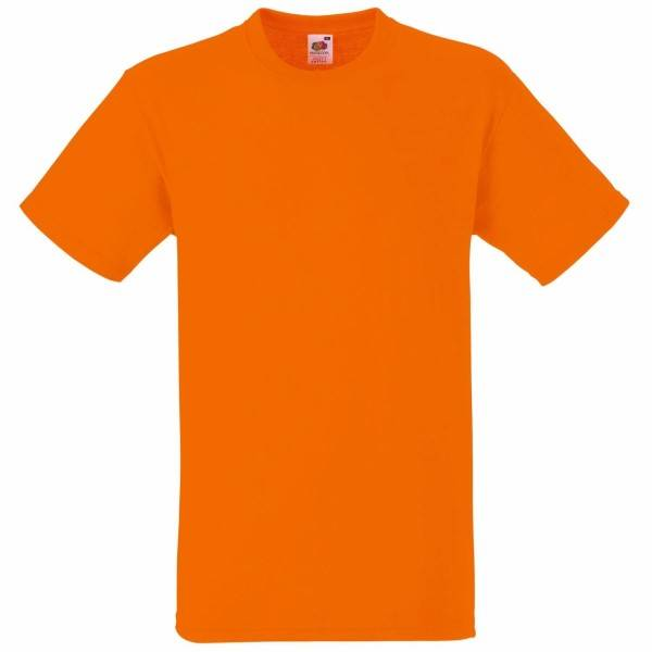 Fruit of the Loom Heavy Cotton T - Orange - Large