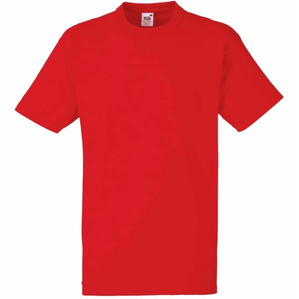 Fruit of the Loom Heavy Cotton T - Red - 3XL