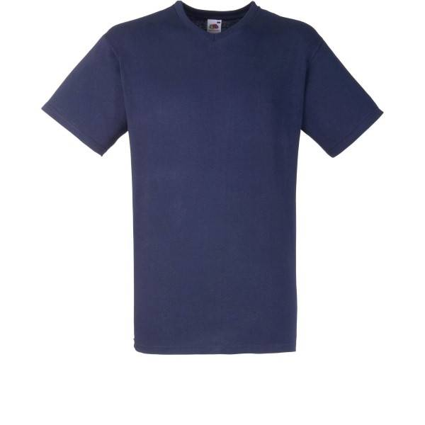 Fruit of the Loom Valueweight V-neck T - Darkblue - Large