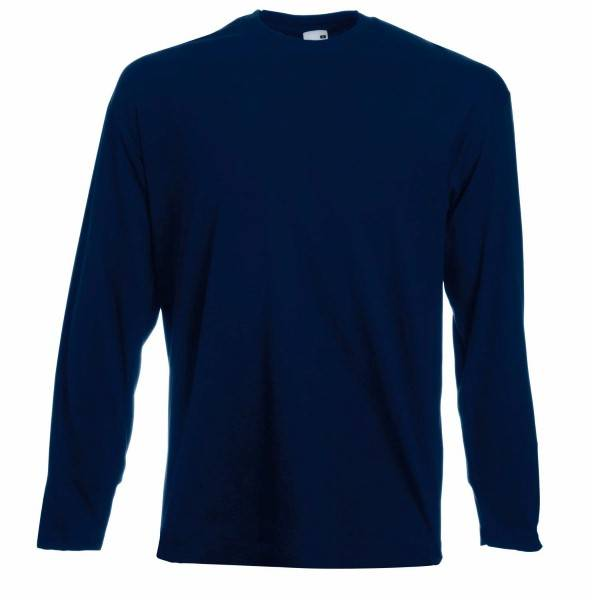 Fruit of the Loom Valueweight Long Sleeve T - Darkblue - Medium