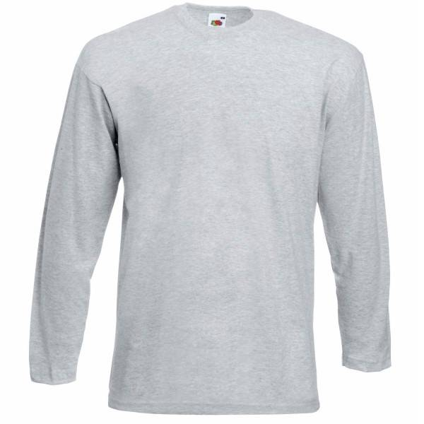 Fruit of the Loom Valueweight Long Sleeve T - Greymarl