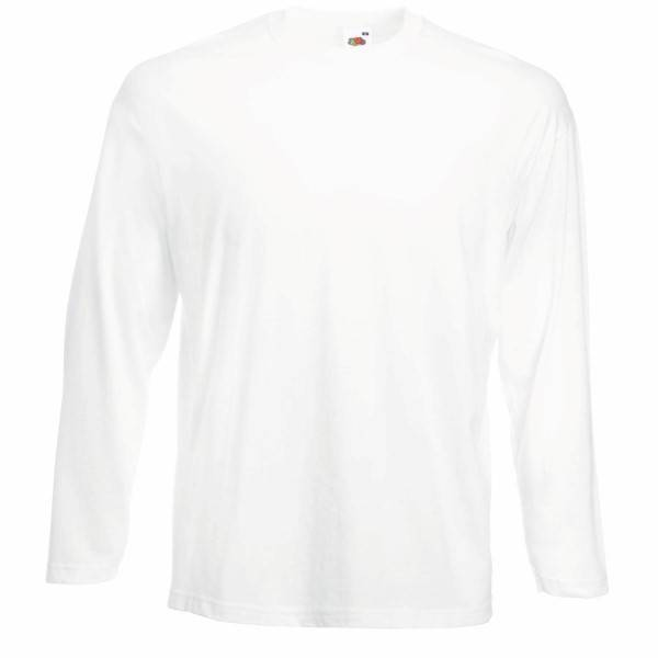 Fruit of the Loom Valueweight Long Sleeve T - White - X-Large