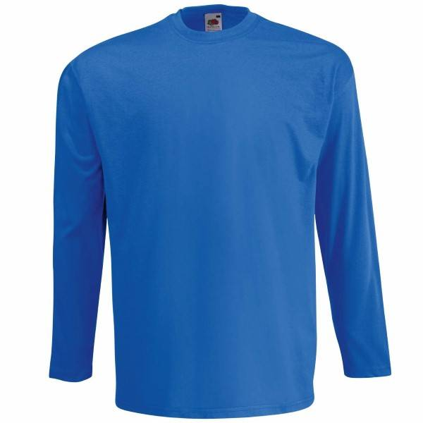 Fruit of the Loom Valueweight Long Sleeve T - Royalblue