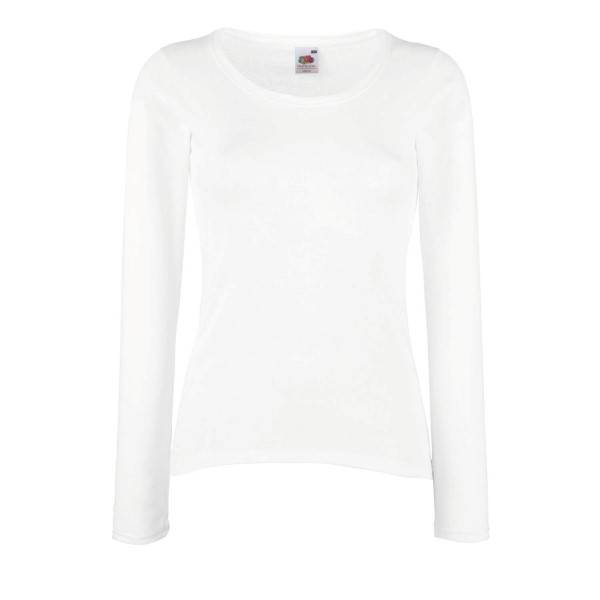 Fruit of the Loom Lady Fit Valueweight Long Sleeve - White