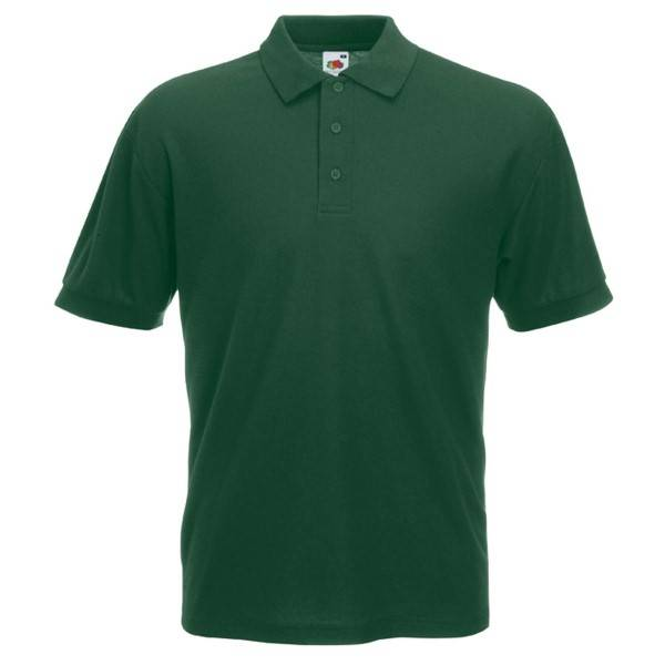 Fruit of the Loom 65/35 Polo - Darkgreen - Small
