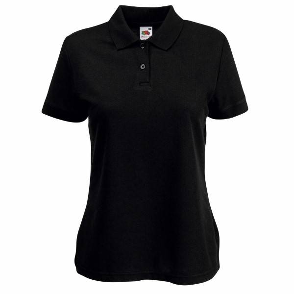 Fruit of the Loom Lady Fit 65/35 Polo - Black - XX-Large * Kampanja *