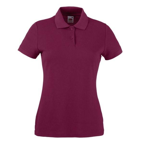 Fruit of the Loom Lady Fit 65/35 Polo - Wine red - Medium