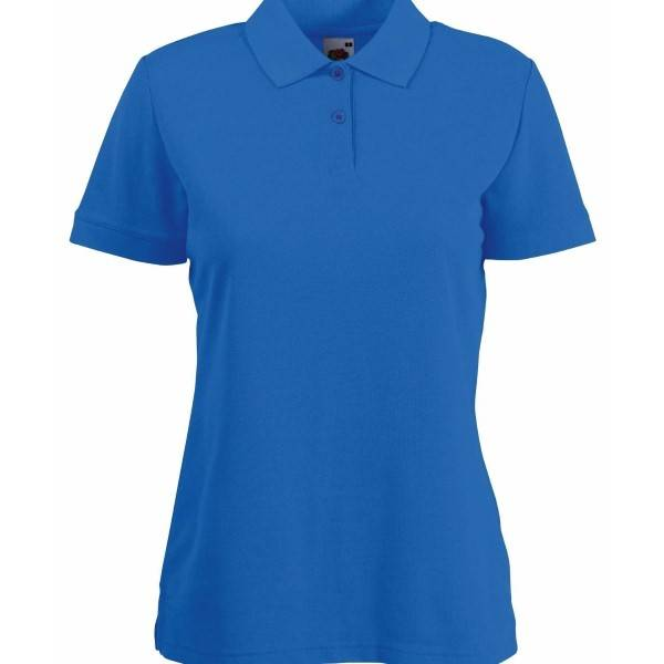 Fruit of the Loom Lady Fit 65/35 Polo - Royalblue - Small