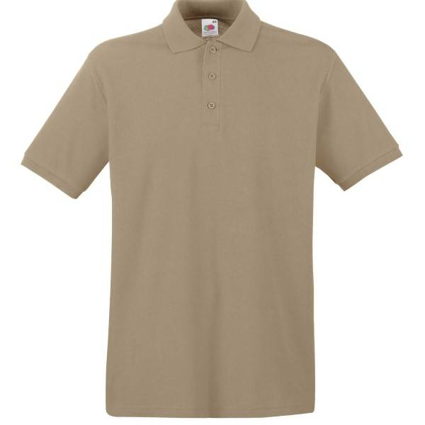 Fruit of the Loom Premium Polo - Khaki - Large
