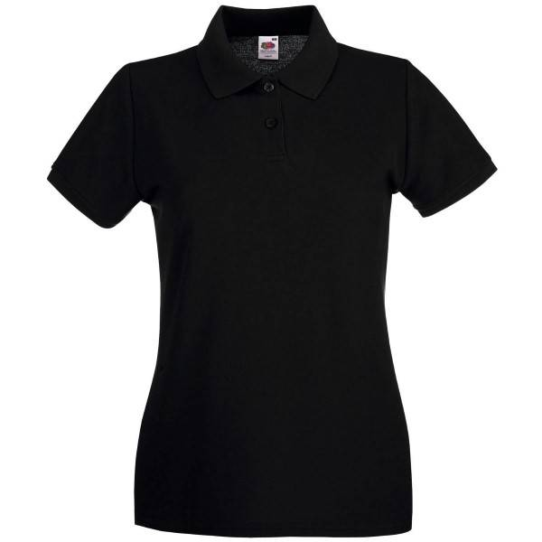 Fruit of the Loom Lady-Fit Premium Polo - Black - XX-Large