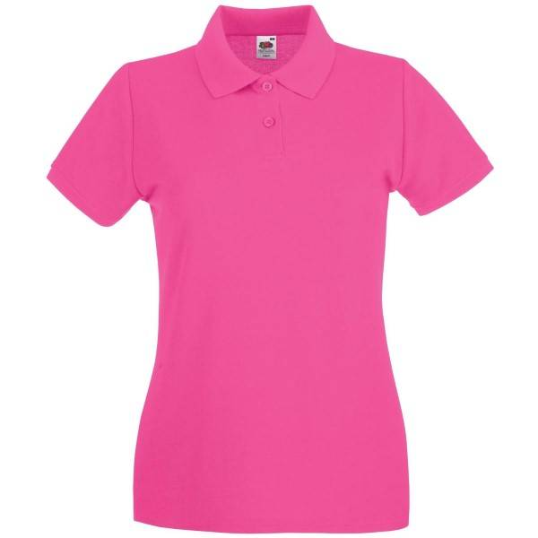 Fruit of the Loom Lady-Fit Premium Polo - Pink - Medium