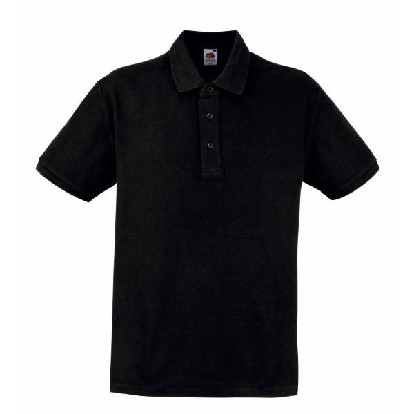 Fruit of the Loom Heavy Polo - Black - Large