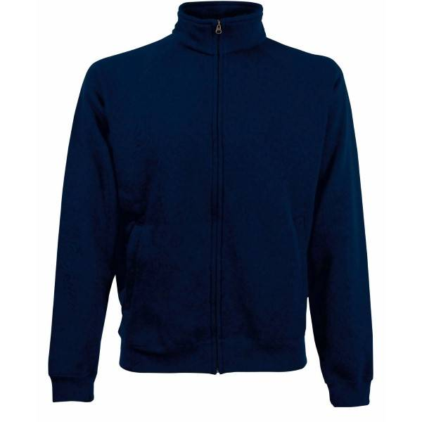 Fruit of the Loom Sweat Jacket - Darkblue - Small