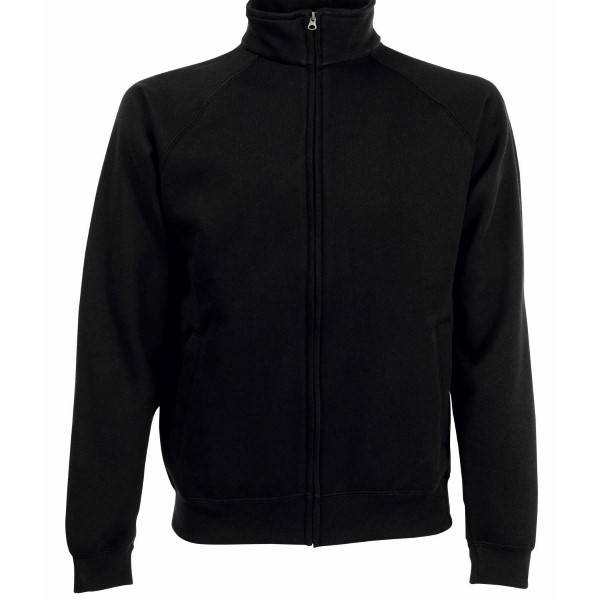 Fruit of the Loom Sweat Jacket - Black - Small