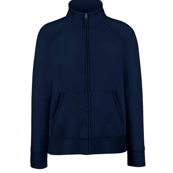 Fruit of the Loom Lady-Fit Sweat Jacket - Darkblue - X-Small
