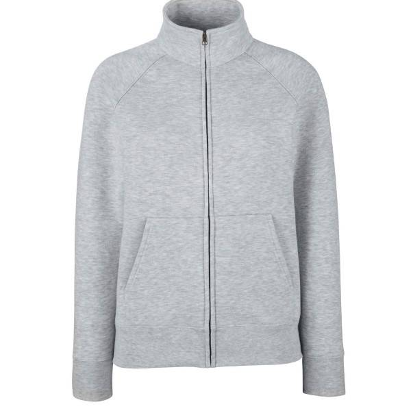 Fruit of the Loom Lady-Fit Sweat Jacket - Greymarl - X-Large