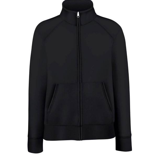 Fruit of the Loom Lady-Fit Sweat Jacket - Black - Small
