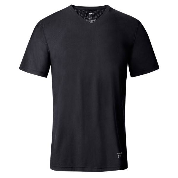 IIA Frigo Cotton T-Shirt V-Neck - Black