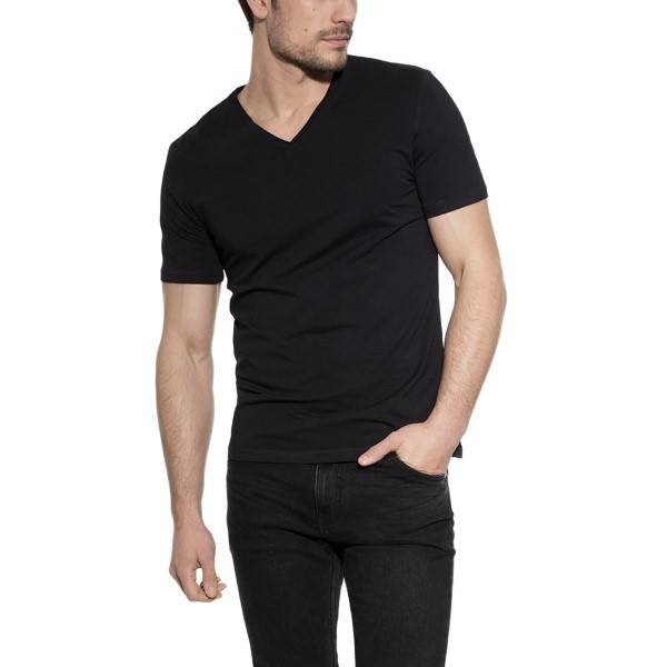 Bread & Boxers Bread and Boxers V-Neck - Black - Large