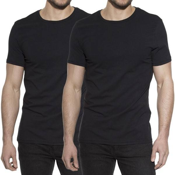 Bread & Boxers Bread and Boxers Crew Necks 2 pakkaus - Black