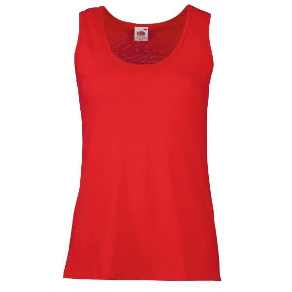 Fruit of the Loom Lady-Fit Valueweight Vest - Red - X-Large