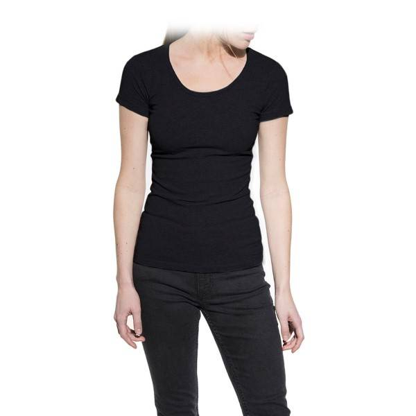 Bread & Boxers Bread and Boxers Crew Neck Woman - Black - X-Large