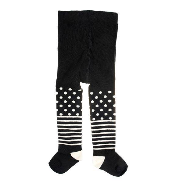 Happy socks Kids Tights Stripe Dots Black - Black - 6-12 mån * Kampanja *