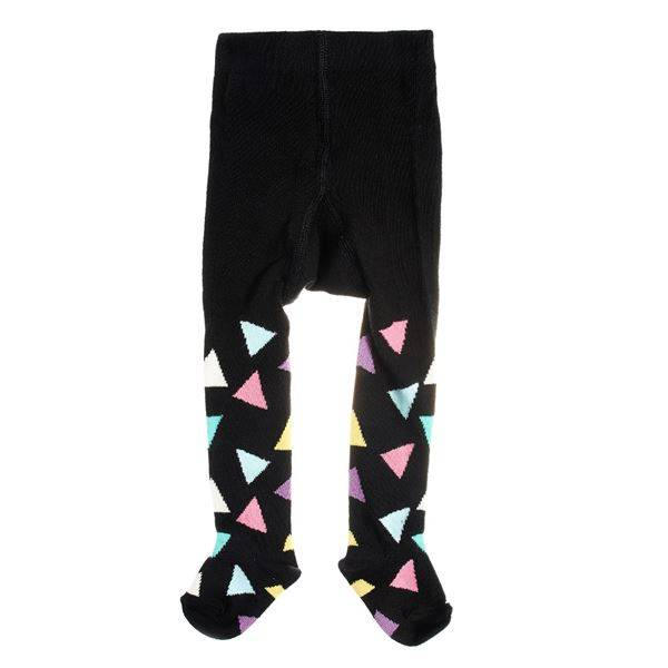 Happy socks Kids Triangle Tights Black - Black - 6-12 mån * Kampanja *