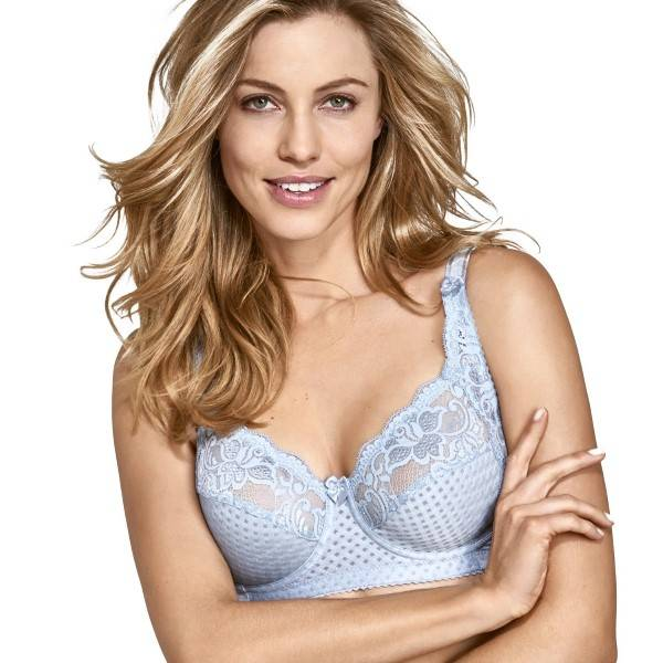 Miss Mary of Sweden Miss Mary Underwired Bra Soft Lace F - Blue - F 85