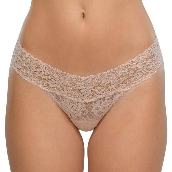 Hanky Panky Low Rise Thong - Beige - One Size