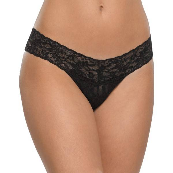 Hanky Panky Low Rise Thong - Black - One Size