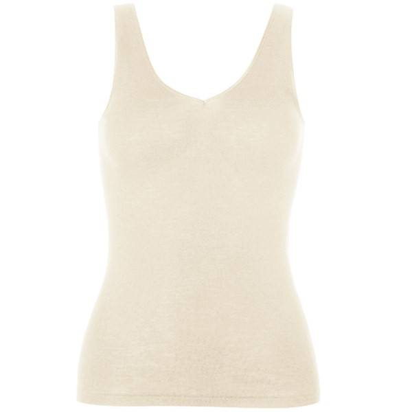Hanro Woolen Silk Tank Top 263 - Ivory - Medium