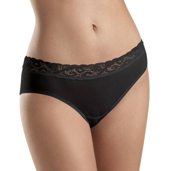Hanro Moments Midi Brief - Black - Large
