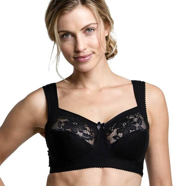 Miss Mary of Sweden Miss Mary Soft Cup Bra - Black - B 110