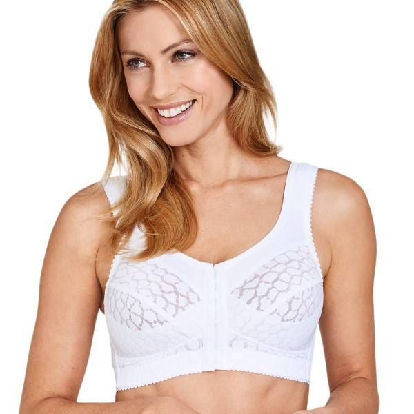 Miss Mary of Sweden Miss Mary Soft Cup Bra With Front Closure - White