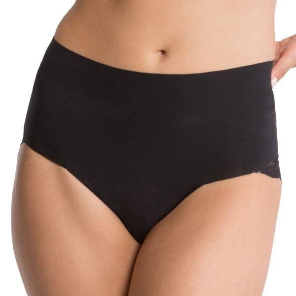 Spanx Undie-Tectable Lace Cheeky Panty - Black - Large