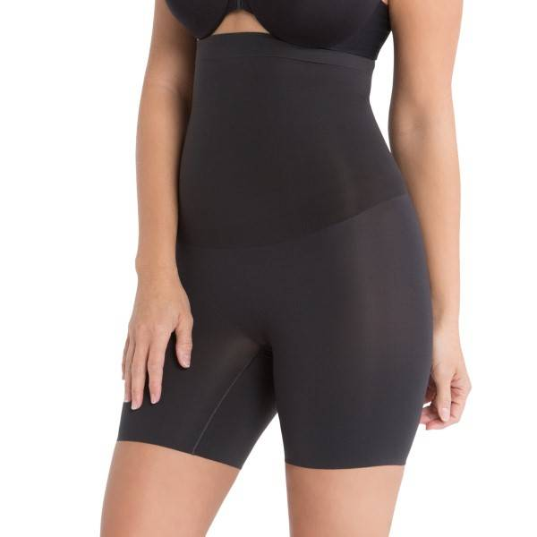 Spanx Shape My Day High-Waisted Mid-Thigh Short - Black - Small