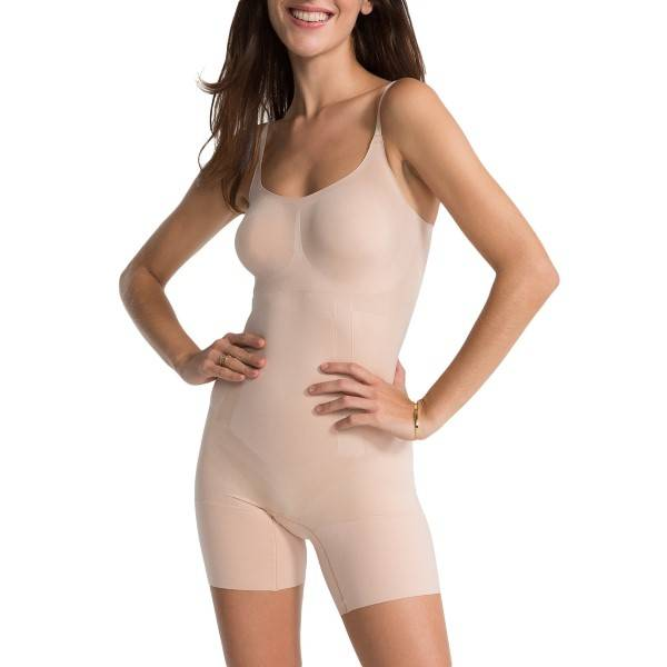 Spanx OnCore Mid-Thigh Bodysuit - Skin - X-Large