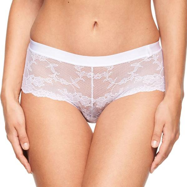 Chantelle Everyday Lace Low-Cut Shorty - White