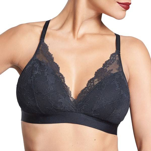 Chantelle Everyday Lace Wireless Spacer Bra - Black