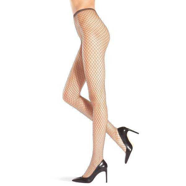 Oroblu Carry Fishnet Tights - Beige - S/M