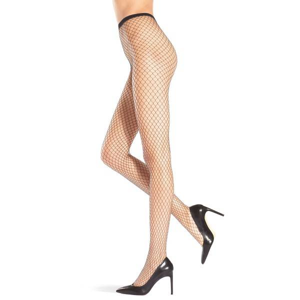 Oroblu Carry Fishnet Tights - Black - S/M