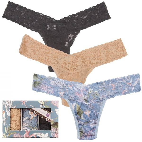 Hanky Panky By Malina For Hanky Panky Low Rise Thong Box - Mixed